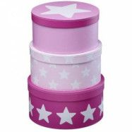 Kids Concept Pappboxar (Rosa Star)