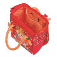 Pippi Långstrump - Ryggsäck med flätor retro röd
