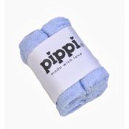 Pippi Tvättlappar 4-pack (Ljusblå)