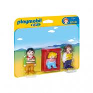 Playmobil 1.2.3 6966, Föräldrar med barnvagga