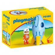 Playmobil 1.2.3 Astronaut med raket