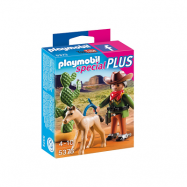 Playmobil, Country - Cowboy med föl