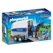 Playmobil, City Action - Polis med häst och släp