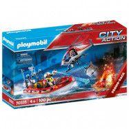 Playmobil City Action Brandkår med helikopter och båt 70335