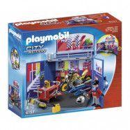 "Playmobil City Action, Leklåda""Motorcykelverkstad"""