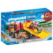 Playmobil City Life Bärgningsbil med motorcykel