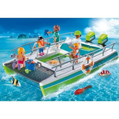 Playmobil Sports&Action - Glasbottenbåt med undervattenmotor 9233