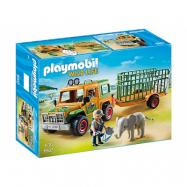 Playmobil Wild Life 6937, Skötare terrängbil med elefant