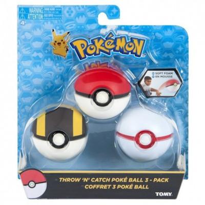 Pokémon - Throw ´n´ Catch Poké Ball 3-pack