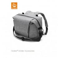 Stokke skötväska&ryggsäck, black melange