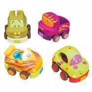 B.Toys, Wheeeee-ls, Pull-back Bilar 4 st