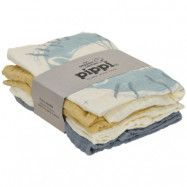 Pippi Muslinfiltar 4-pack (Pearl Blue)