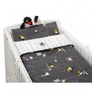 Rätt Start Påslakanset för säng Pingu (Grå 100 x 130 cm)