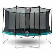 BERG Favorit Studsmatta Grön 430 + Säkerhetsnät Comfort