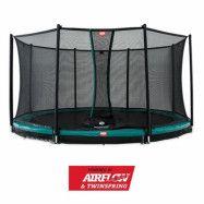 BERG Champion Nedgrävbar Studsmatta Grön 430 + Säkerhetsnät Comfort