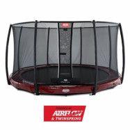 BERG Elite Nedgrävbar Studsmatta 430 + Säkerhetsnät Deluxe