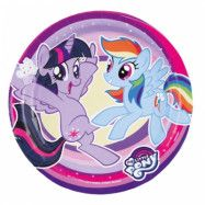 Amscan My Little Pony, Tallrikar 8-pack 18 cm