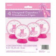 Bordsdekoration Ballerina - 4-pack