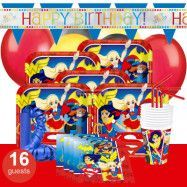 DC Super Hero Girls, Kalaspaket Deluxe 16 pers
