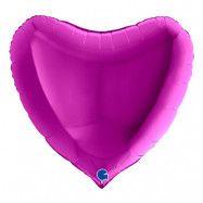 Folieballong Hjärta Lila - 91 cm