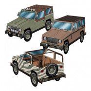 Jeep 3D Bordsdekoration - 3-pack