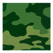 Kaffeservetter Kamouflage - 16-pack
