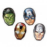 Decorata Marvel Avengers, Figurformad tallrik 4 st