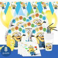 Minions Balloons, Kalaspaket Deluxe 8 pers