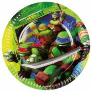 Ninja Turtles - Tallrikar 8-pack 23 cm