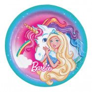 Papperstallrikar Barbie Dreamtopia - 8-pack