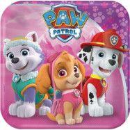 Paw Patrol - Skye Tallrik 8-pack 18 cm