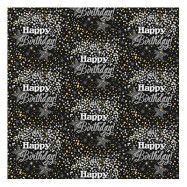 Presentpapper Glitter Happy Birthday