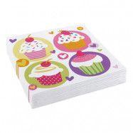 Servetter Cupcake - 20-pack