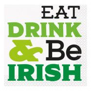 Servetter Eat, Drink and be Irish - 16-pack