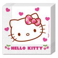 Servetter Hello Kitty Hjärtan - 20-pack