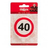 Tårtljus Trafikskylt - 40