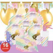 Unicorn Sparkle, Kalaspaket Deluxe 16 pers