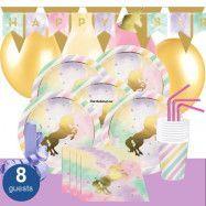 Unicorn Sparkle, Kalaspaket Deluxe 8 pers