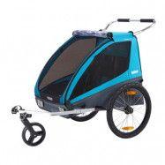 Thule Coaster XT cykelvagn inkl promenad-&cykelkit, blue