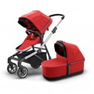 Thule Sleek duovagn, energy red - tillbehör på köpet!