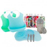 Twistshake startpaket Tableware bundle, blå/grön/grå
