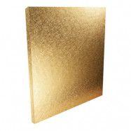 Bordstablett Kvadratisk Guld