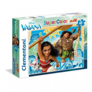 Clementoni, MAXI Pussel SuperColors - Disney Vaiana 60-bitar