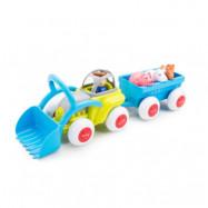Viking Toys - Traktor med släp, djur och bonde